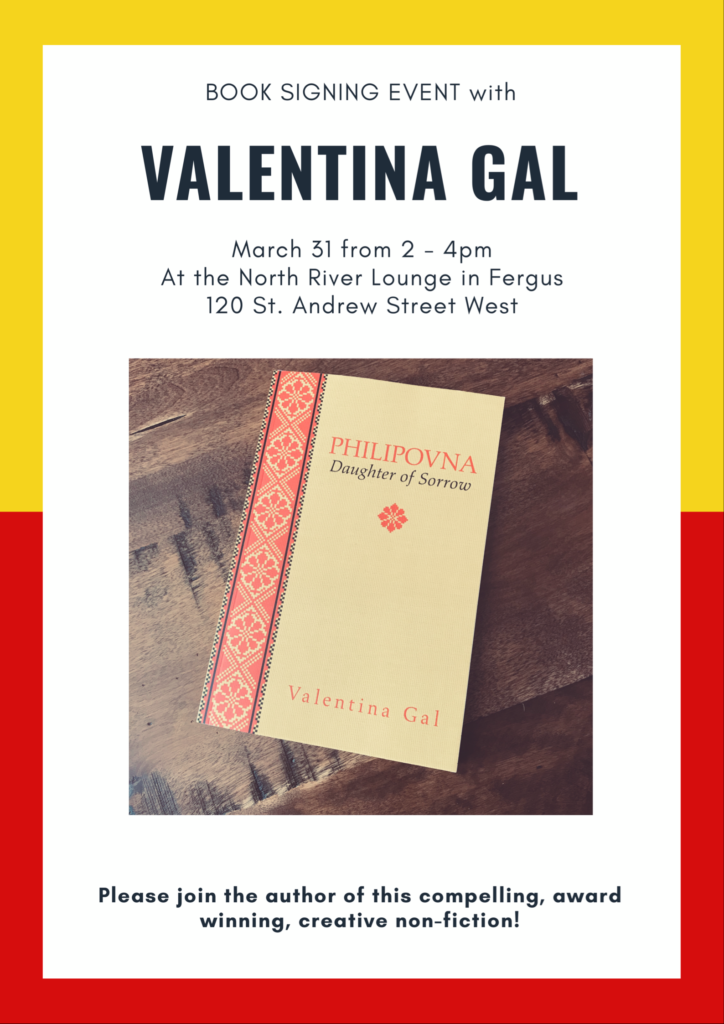 Valentina Book Signing March 31